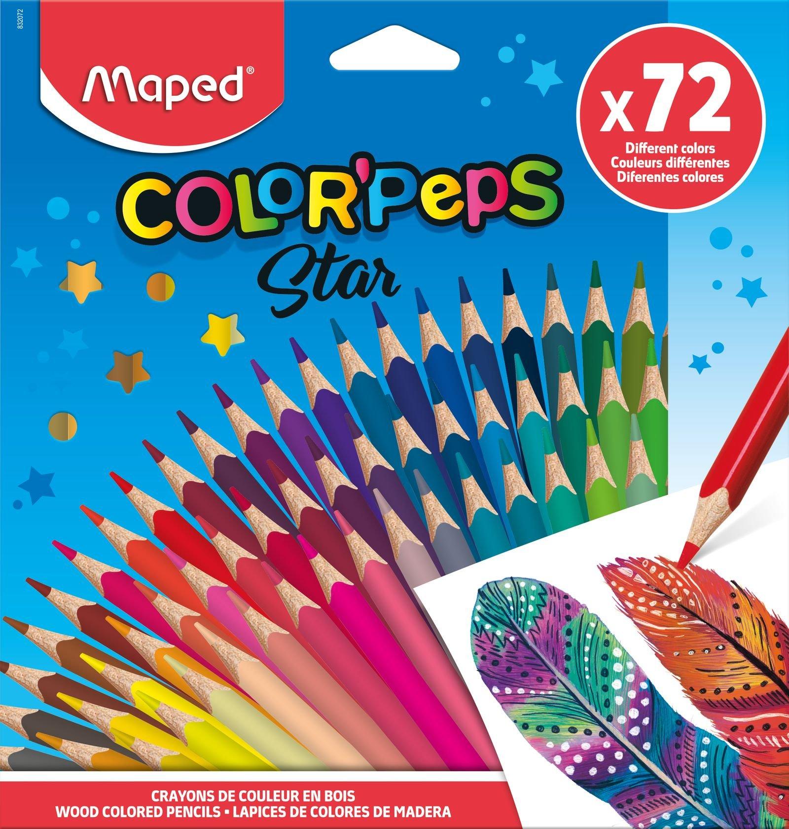Цветные карандаши ColorPeps Star, 72 цв.