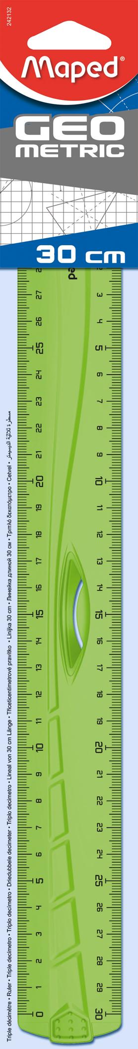 Линейка Geometricсдержателем — 30 см