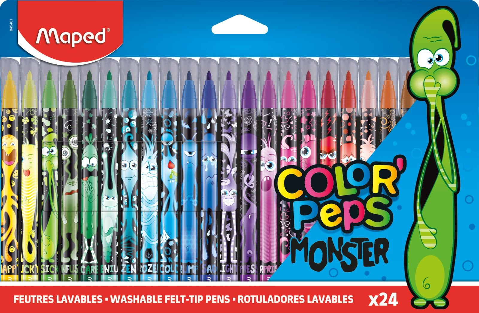 Фломастеры ColorPeps Monsters, 24 цв.