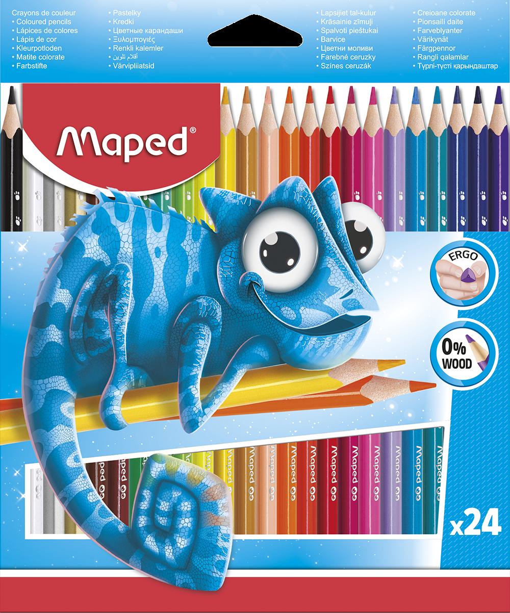 Цветные карандаши ColorPeps Pulse, 24 цв.