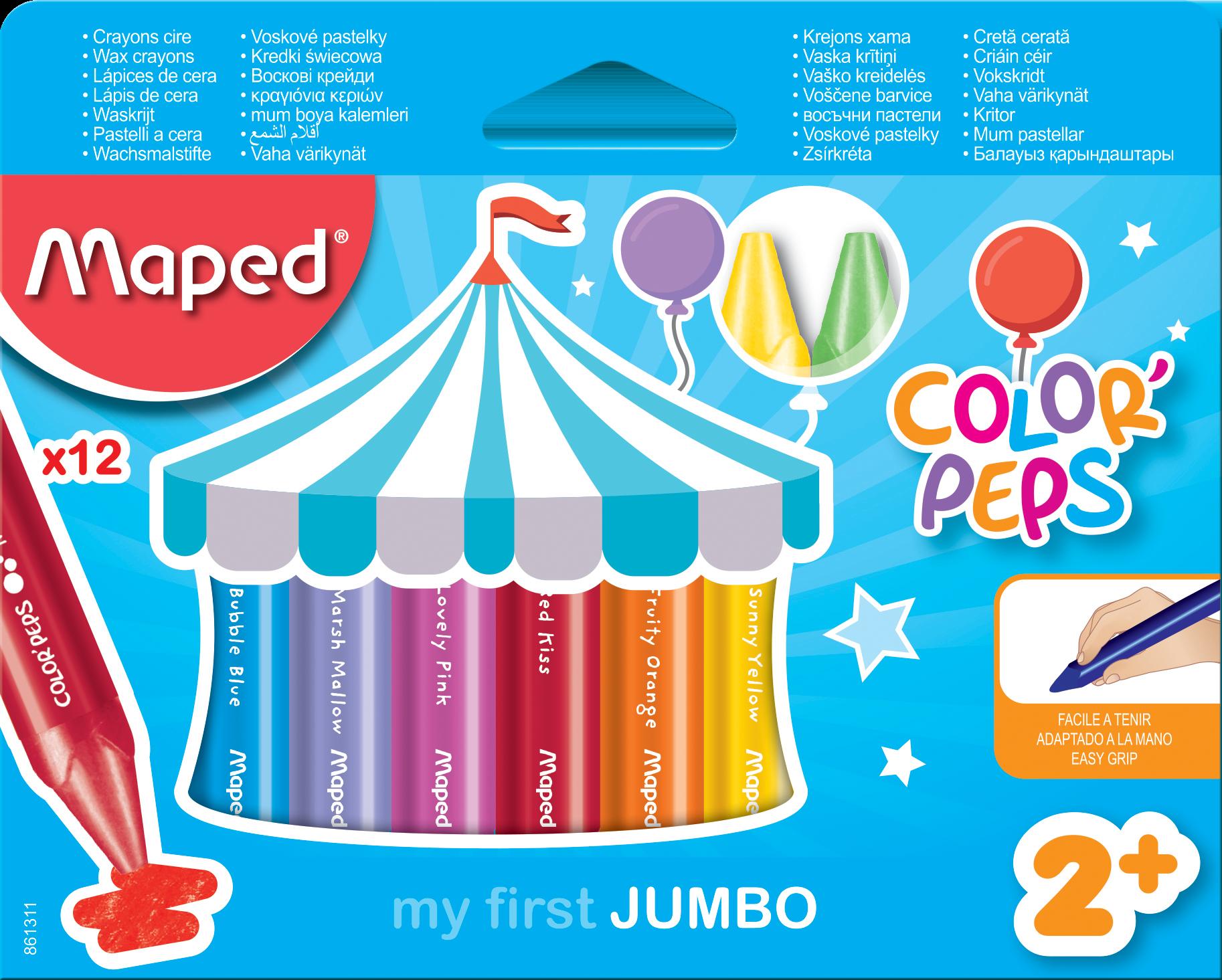 Цветные восковые мелки Jumbo