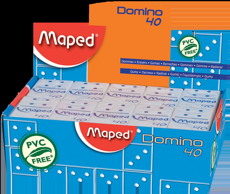 Резинка стирательная Domino 40, 40 шт