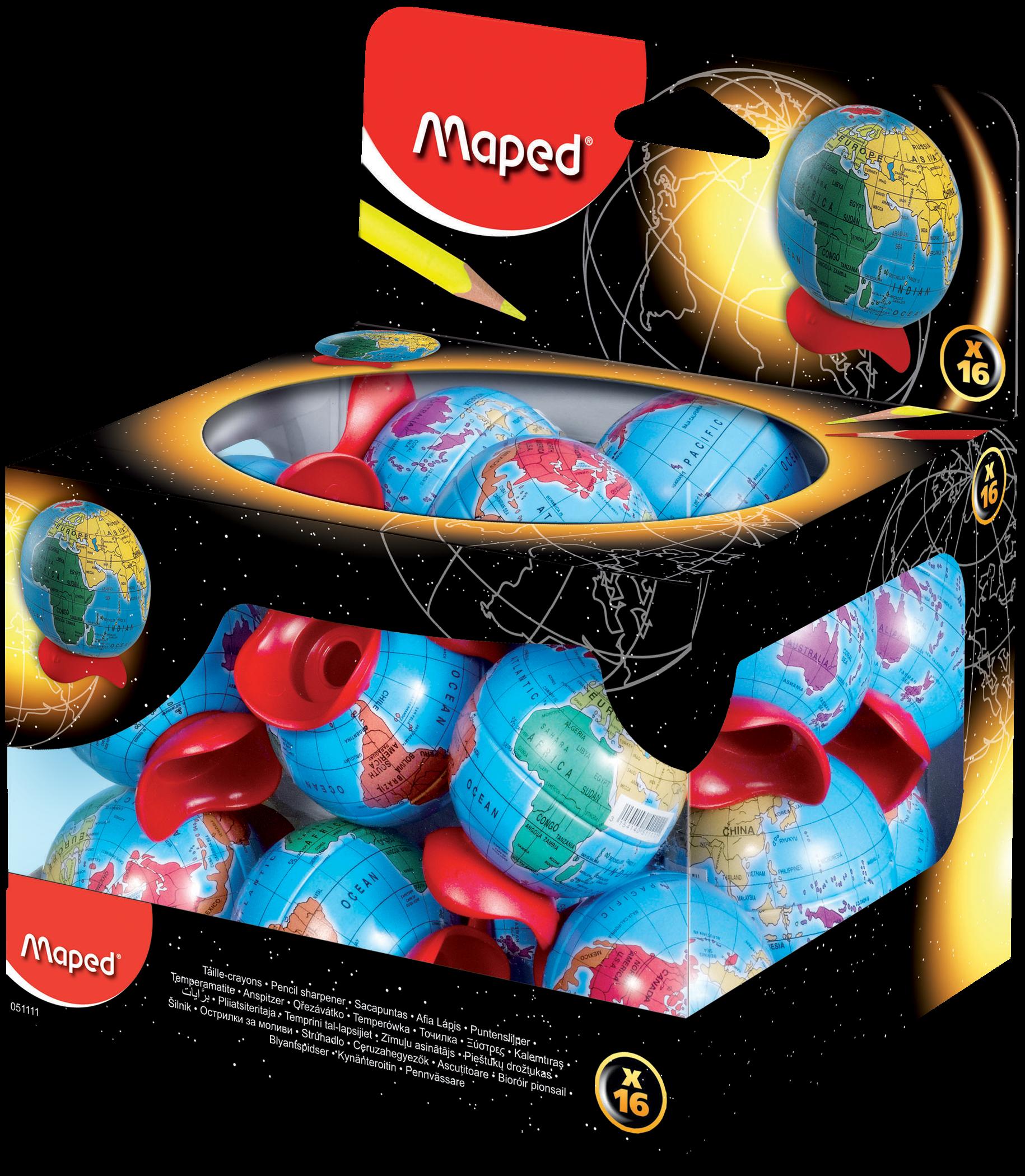 Точилка для карандашей Globe – 1 отверстие, 16 шт