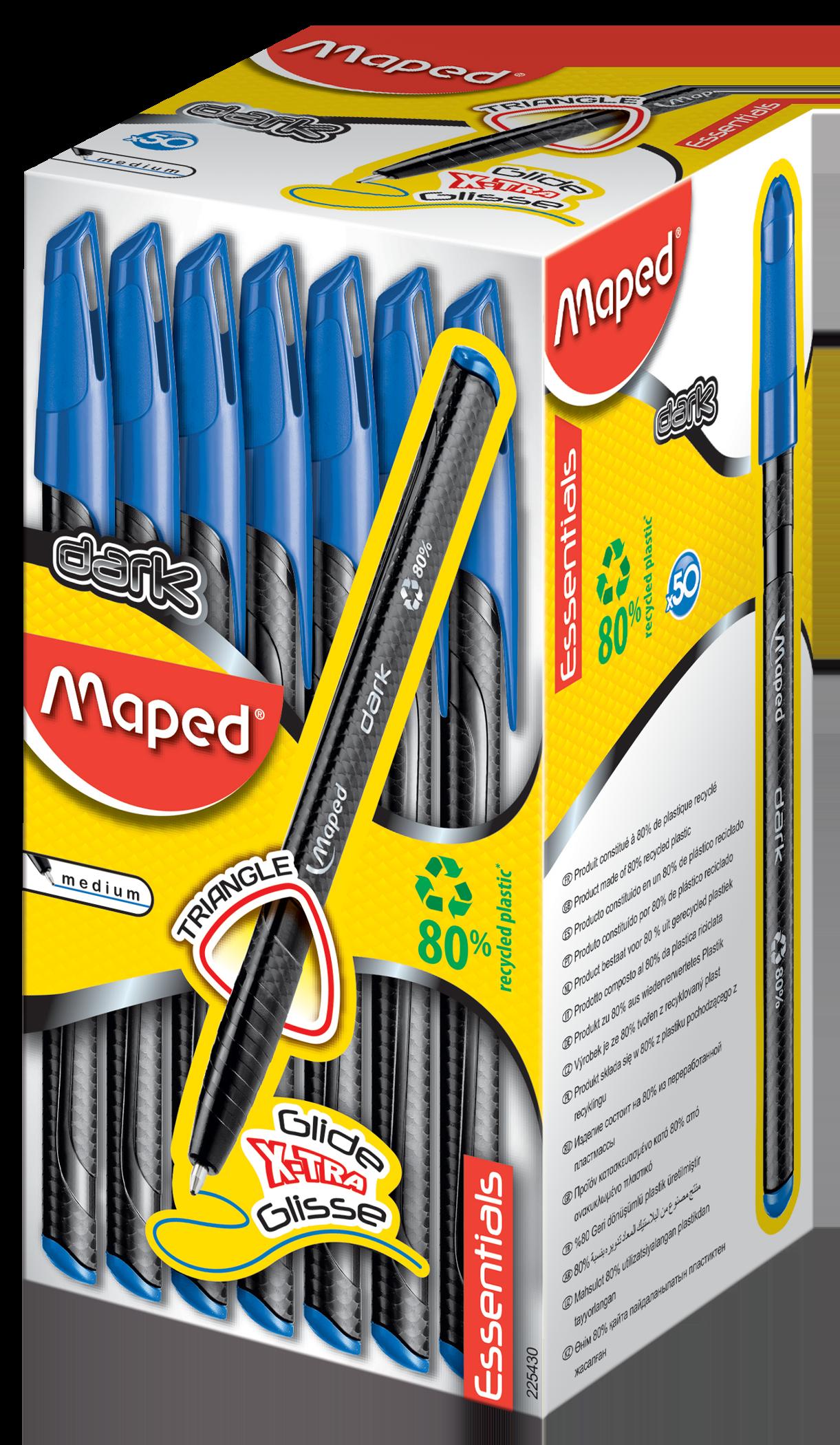 Ручки Dark голубые, 50 шт
