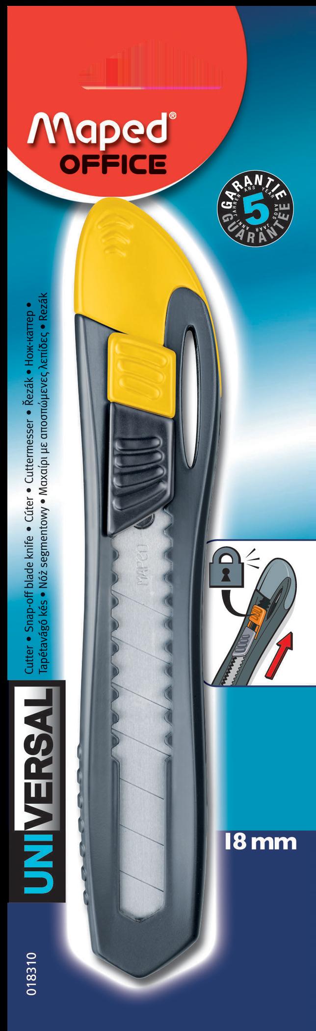 Нож канцелярский Universal Plastic 18 мм