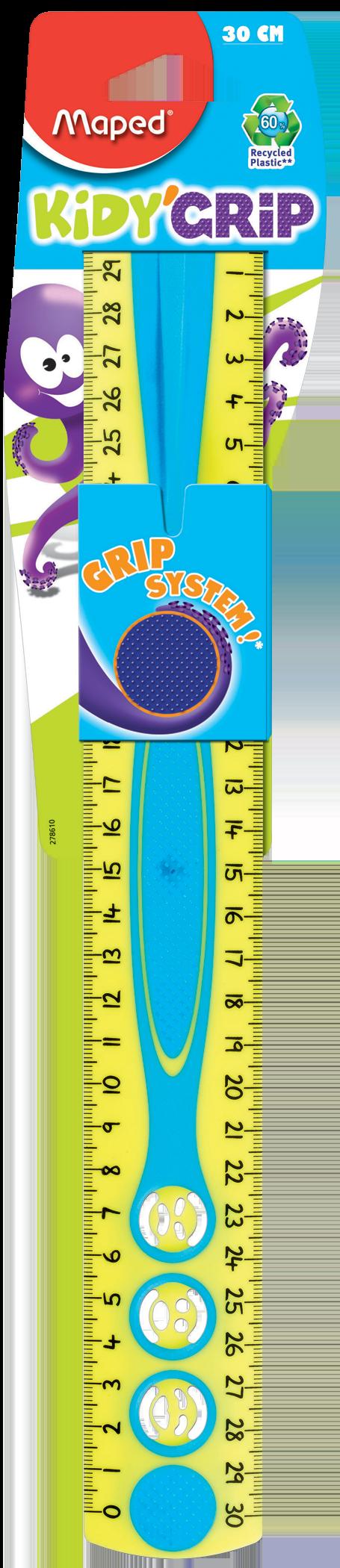 Линейка Kidy'Grip сдержателем − 30 см