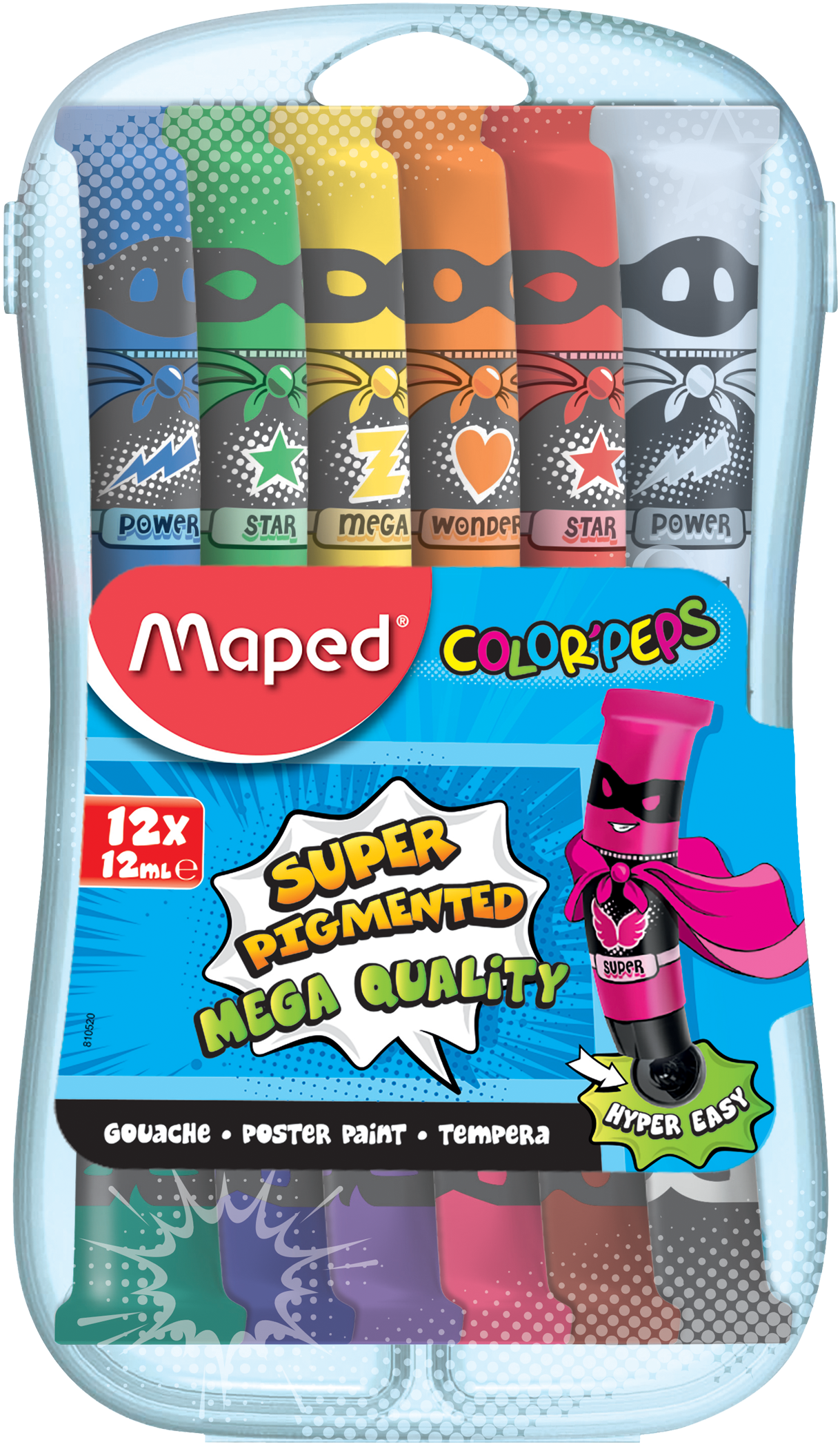 Темпера COLOR'PEPS (пластиковый пенал)