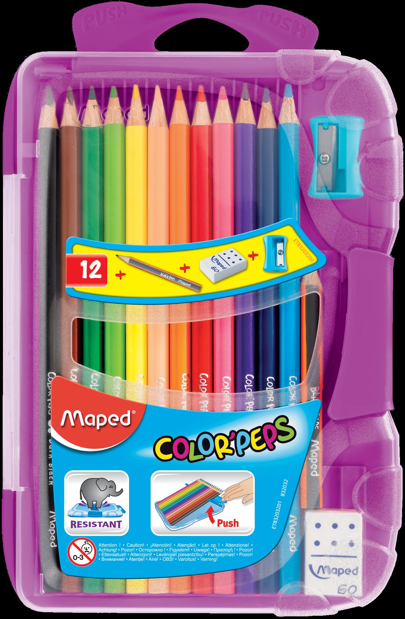 Цветные карандаши Color'Peps Classic («умная» коробка), 12 шт