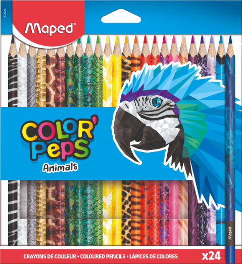 Цветные карандаши ColorPeps Animals, 24 цв.