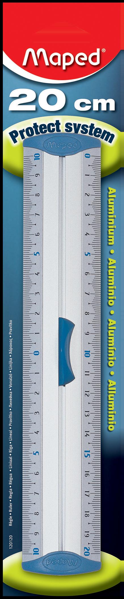 Алюминиевая линейка сдержателем — 20 см