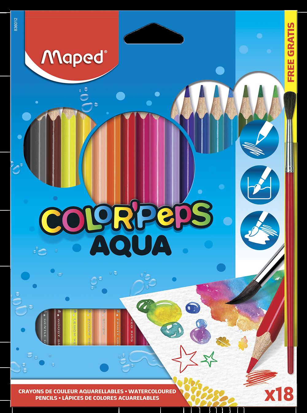 Акварельные карандаши ColorPeps Aqua, 18 цв.