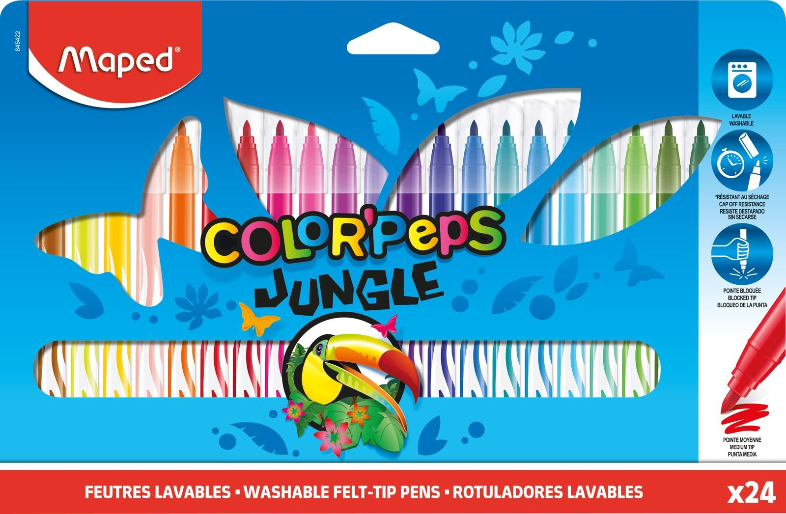 Фломастеры ColorPeps Jungle, 24 шт