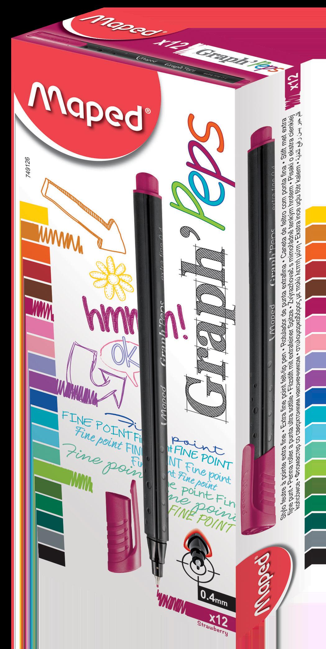 Капиллярные ручкиGraph'Peps, клубничный