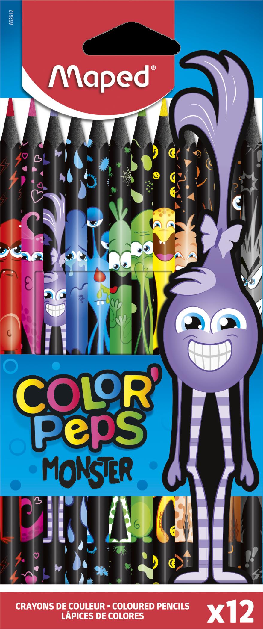 Цветные карандаши ColorPeps Monster, 12 шт