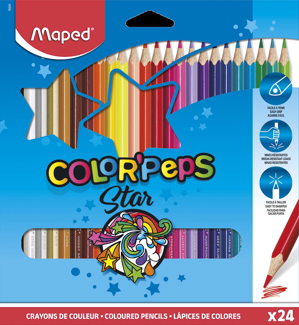 Цветные карандаши ColorPeps Star, 24 шт.