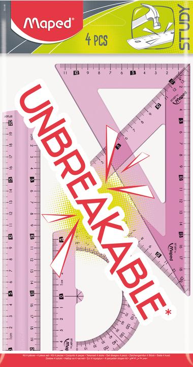 Набор упругих линеек Study Unbreakable, 4 предмета