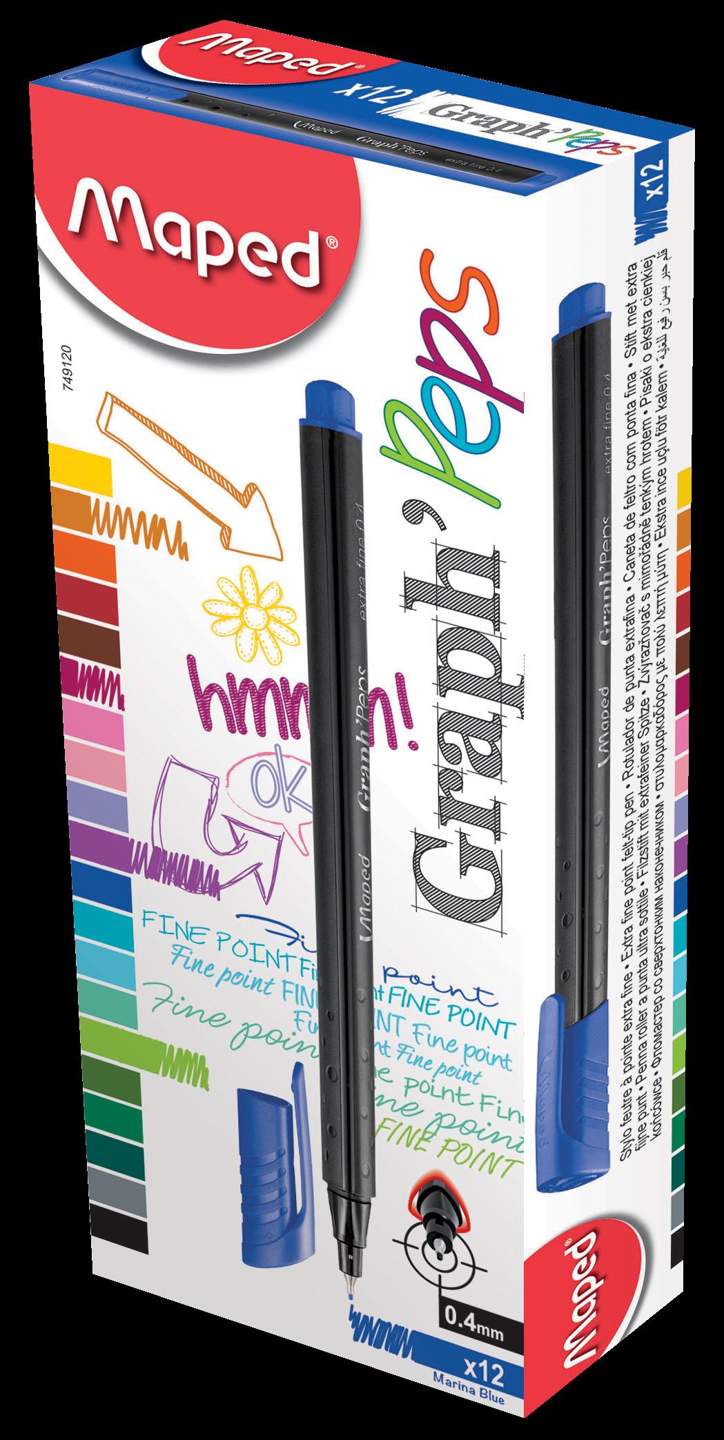 Капиллярные ручкиGraph'Peps, синие