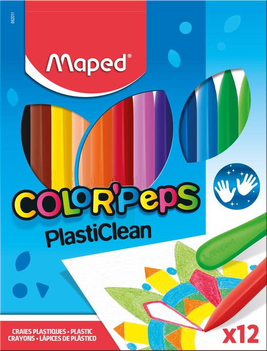 Пластиковые мелки для рисования COLOR'PEPS, 12 шт