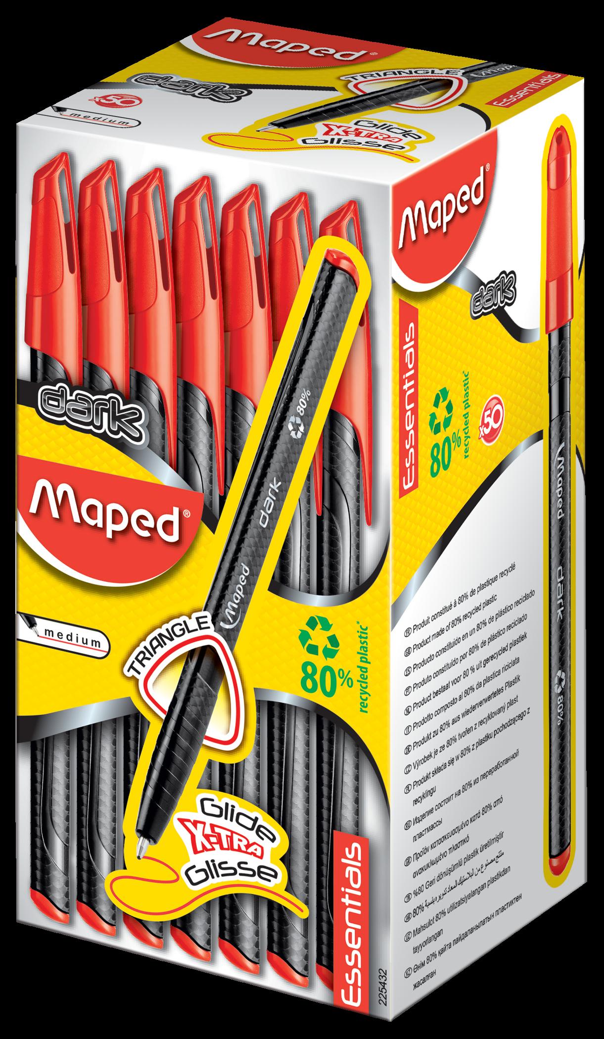 Ручки Dark красные, 50 шт