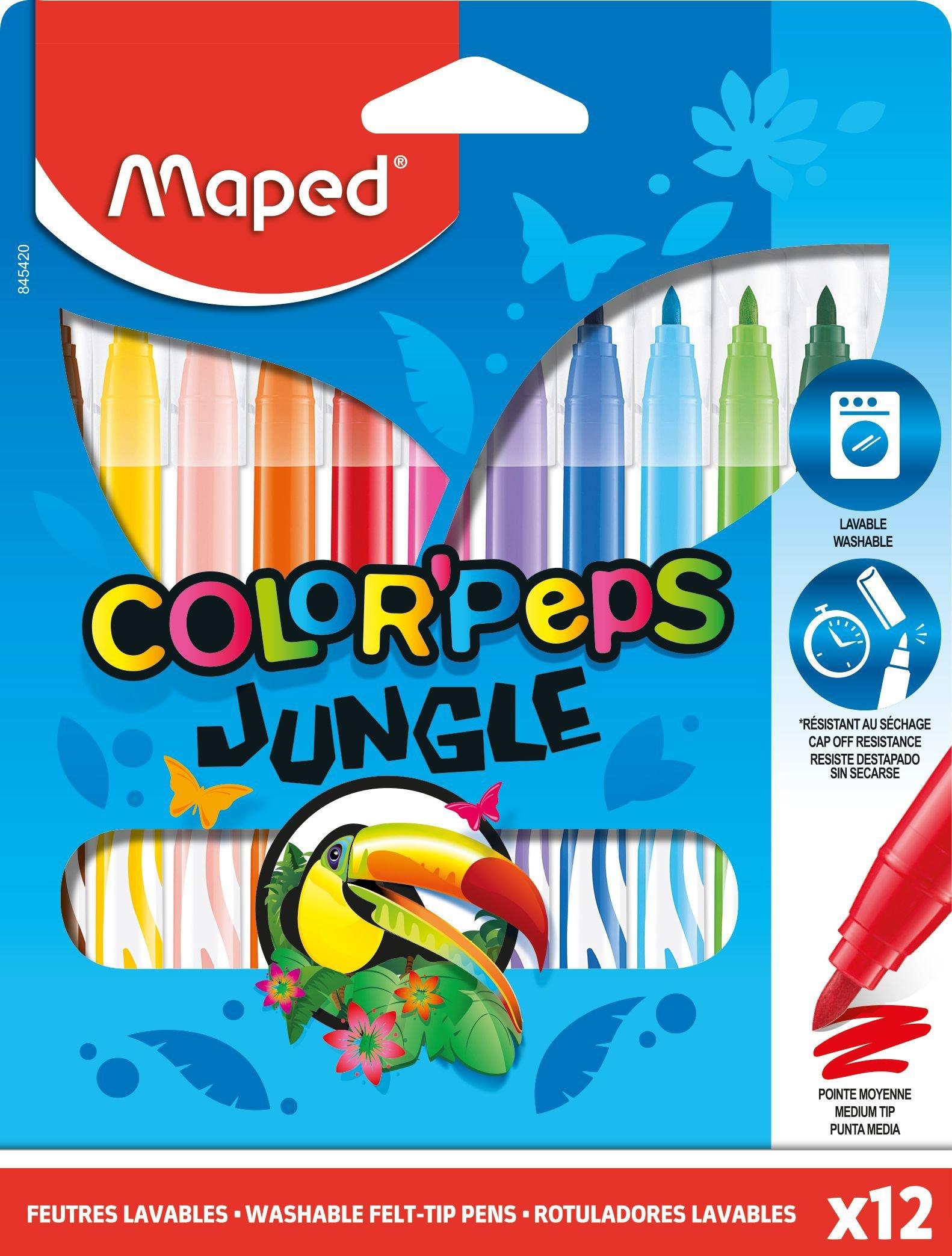 ФломастерыColorPeps Jungle, 12 цв.