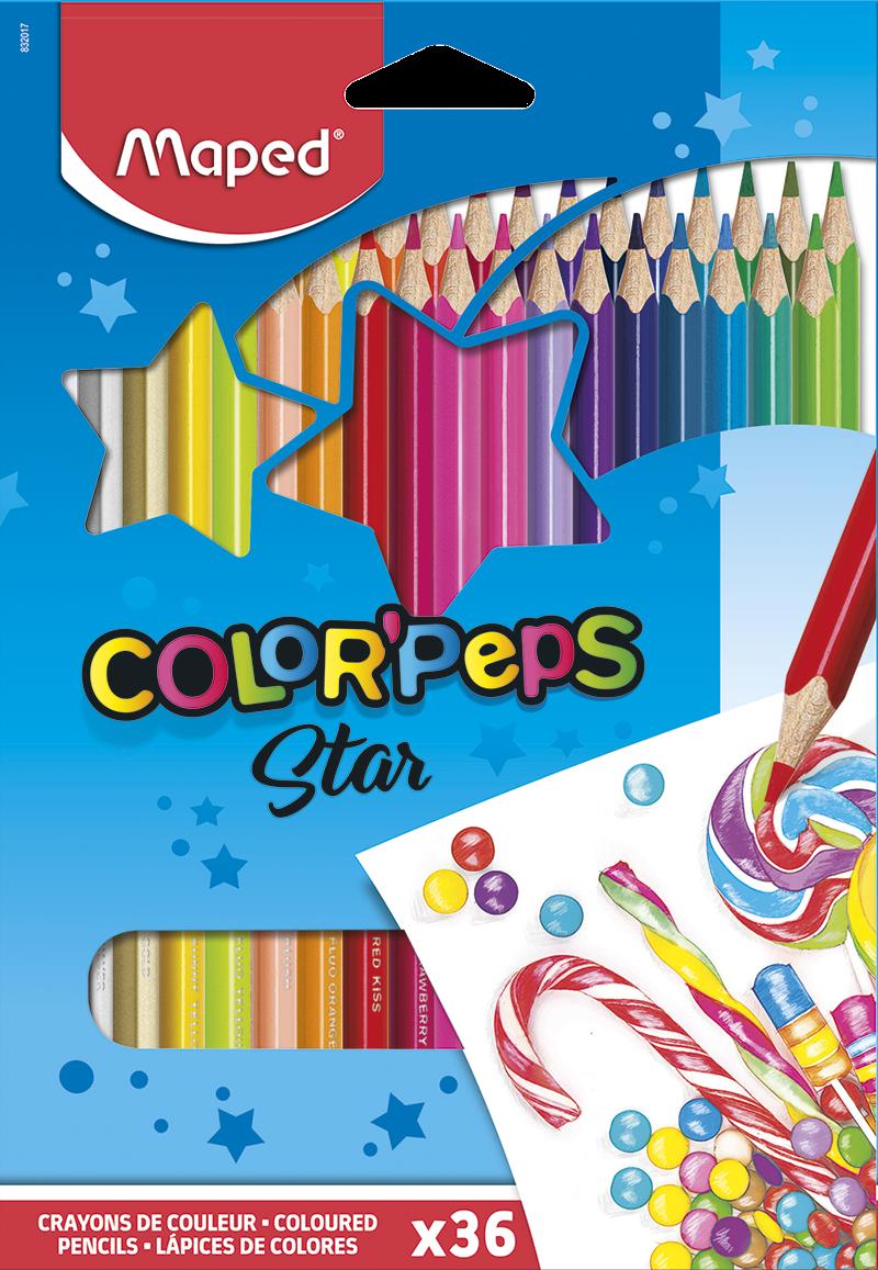 Цветные карандаши ColorPeps Star, 36 цв.