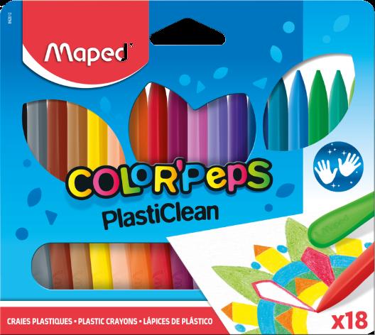 Пластиковые мелки для рисования COLOR'PEPS, 18 шт