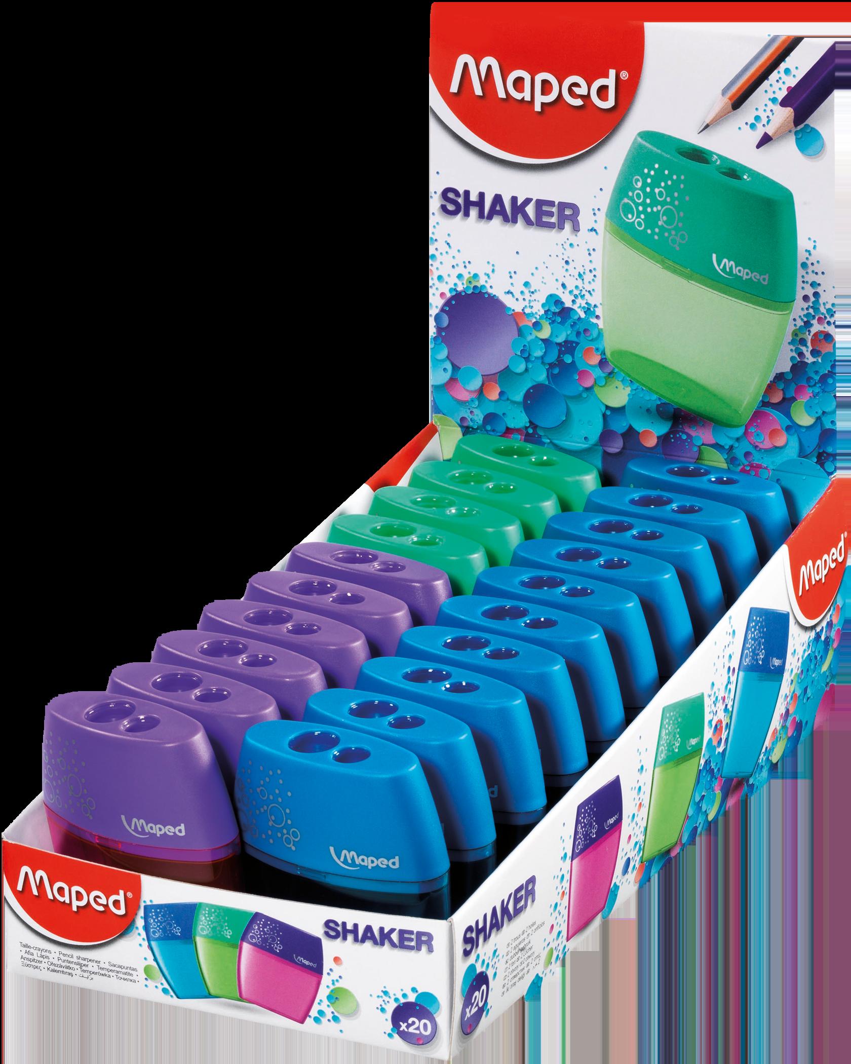 Точилка для карандашей Shaker – 2 отверстия, 20 шт