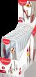 Пластиковый футляр с подвесом (10 шт.), Ассорти
