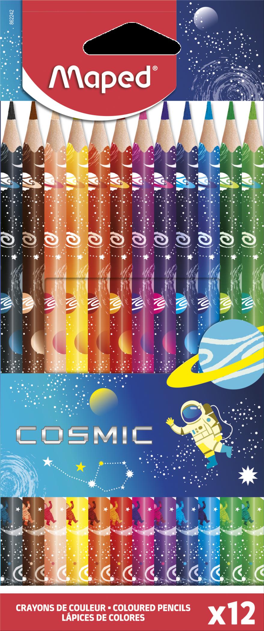 Цветные карандаши Cosmic, 12 шт.