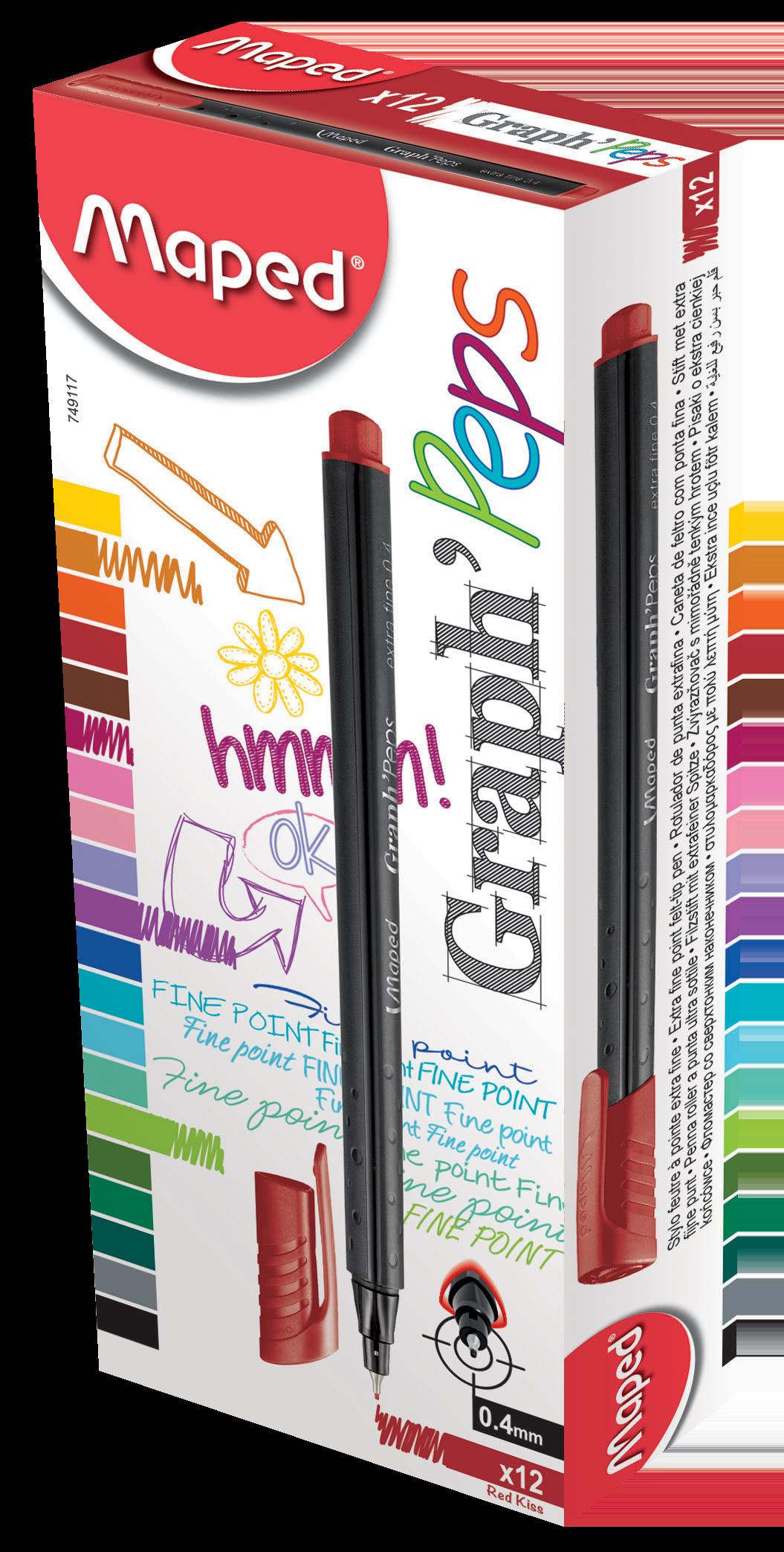 Капиллярные ручкиGraph'Peps, красные