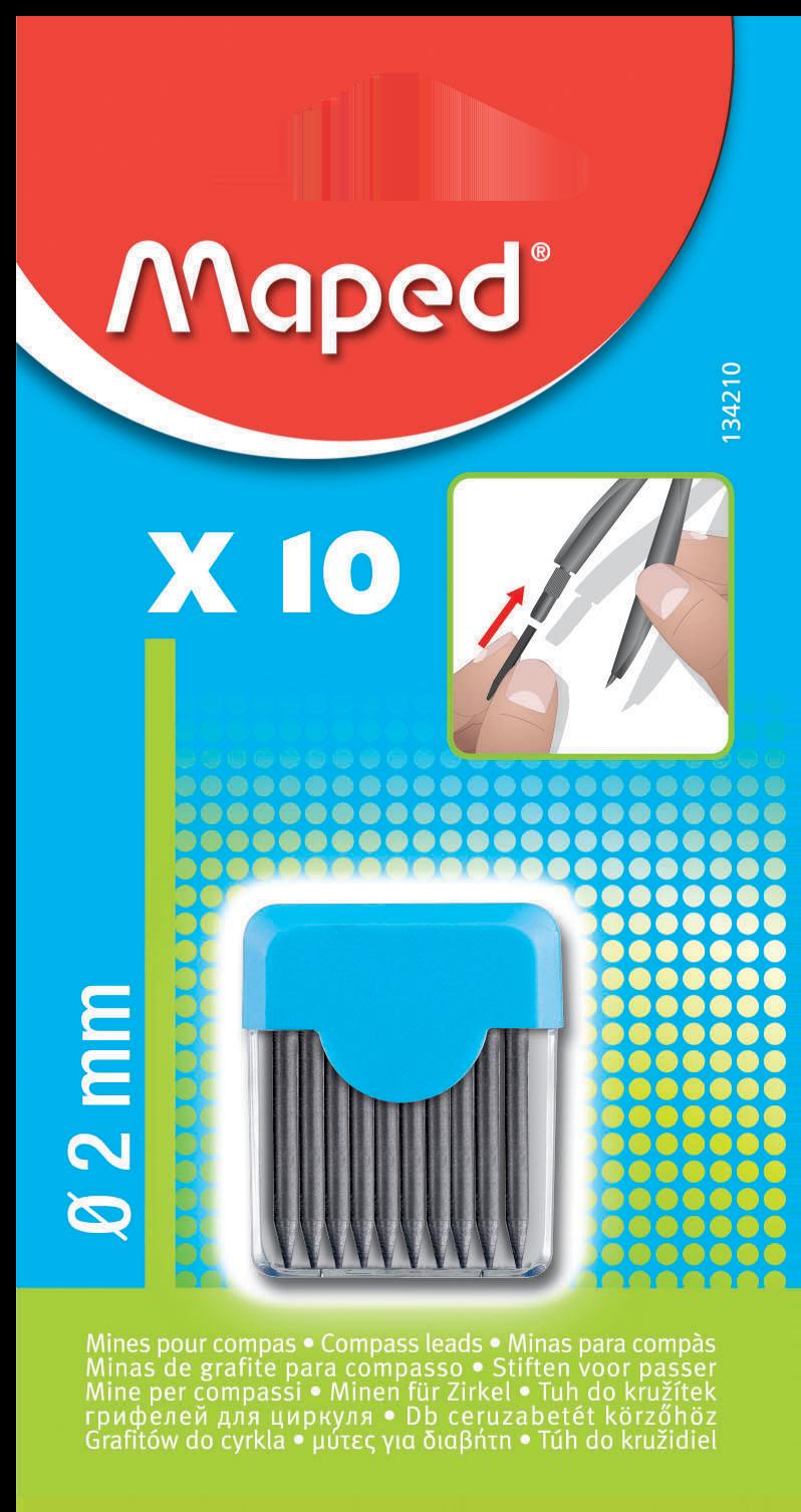 10 Грифелей — Ø2 ммдля циркулей