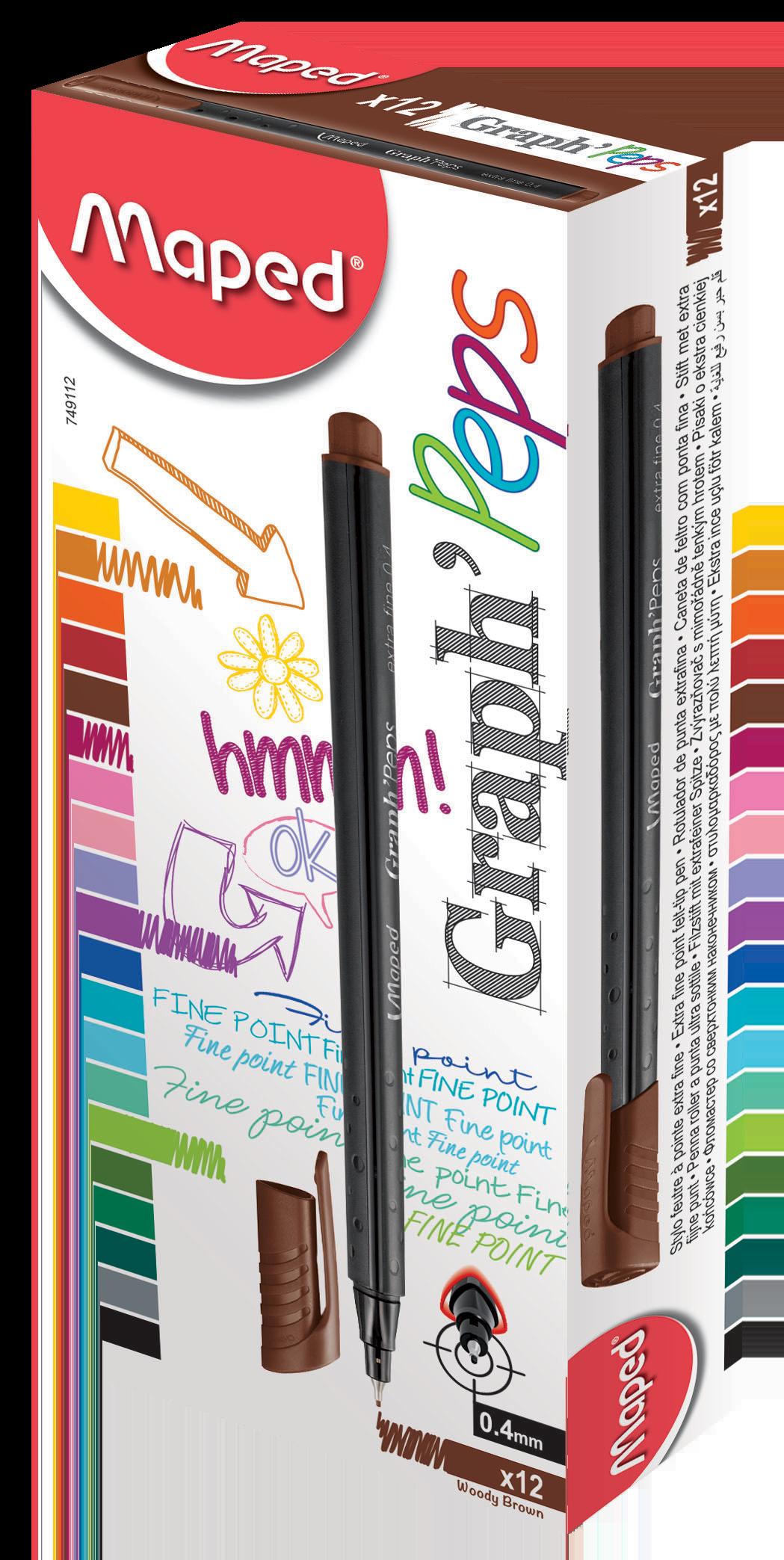 Капиллярные ручкиGraph'Peps, коричневые