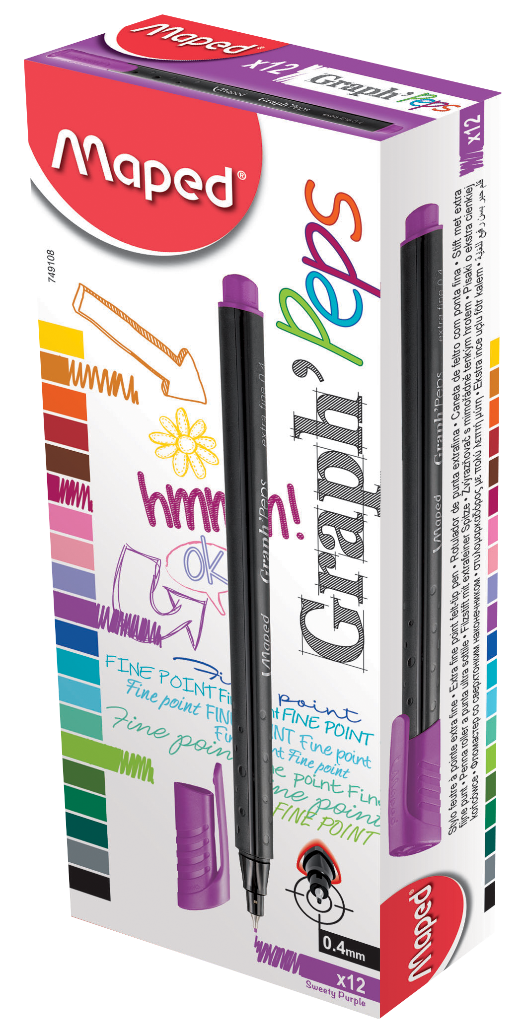 Капиллярные ручкиGraph'Peps, фиолетовые