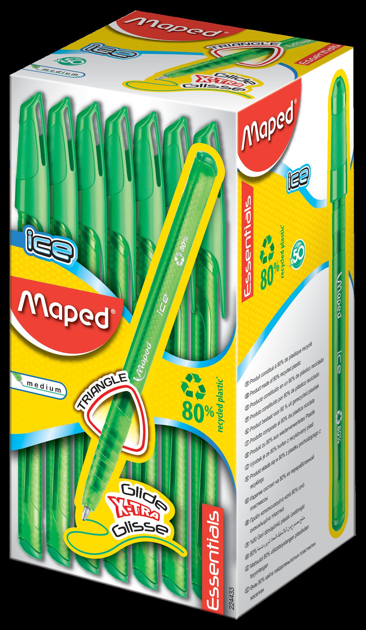 Шариковые ручки Ball'Peps Ice зеленые, 50 шт