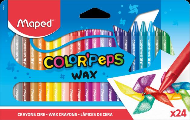 Восковые мелки для рисования COLOR'PEPS, 24 шт
