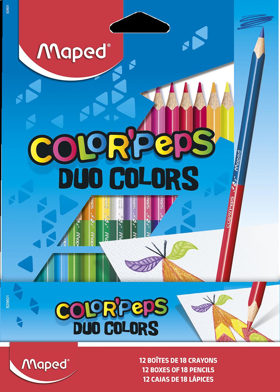 Двусторонние цветные карандаши ColorPeps Duo, 18 шт./36 цв.