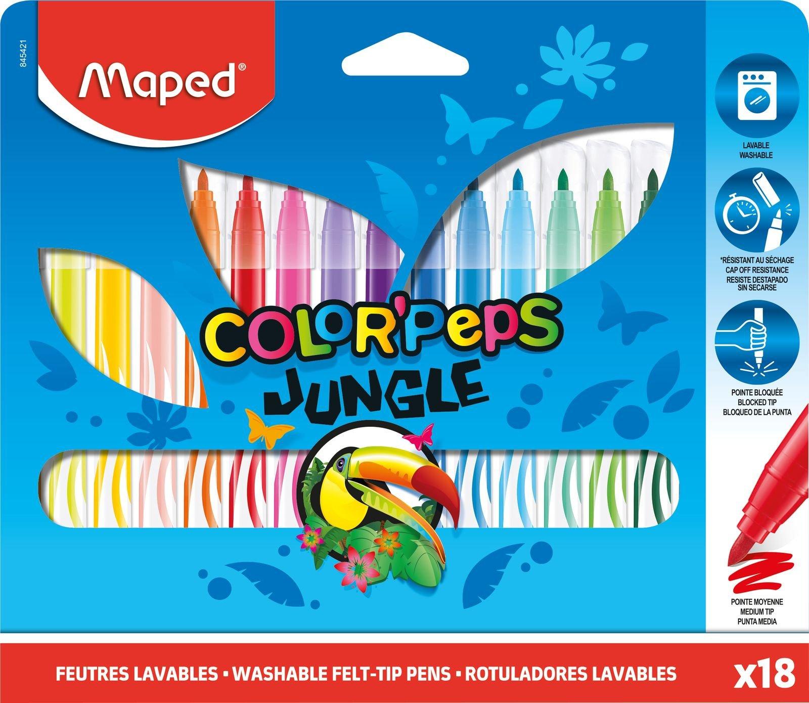 Фломастеры ColorPepsJungle, 18 шт