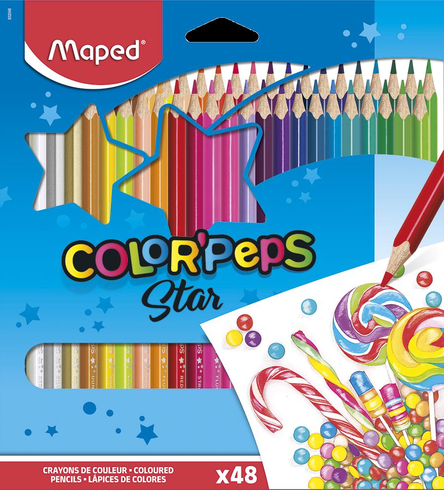 Цветные карандаши ColorPeps Star, 48 цв.