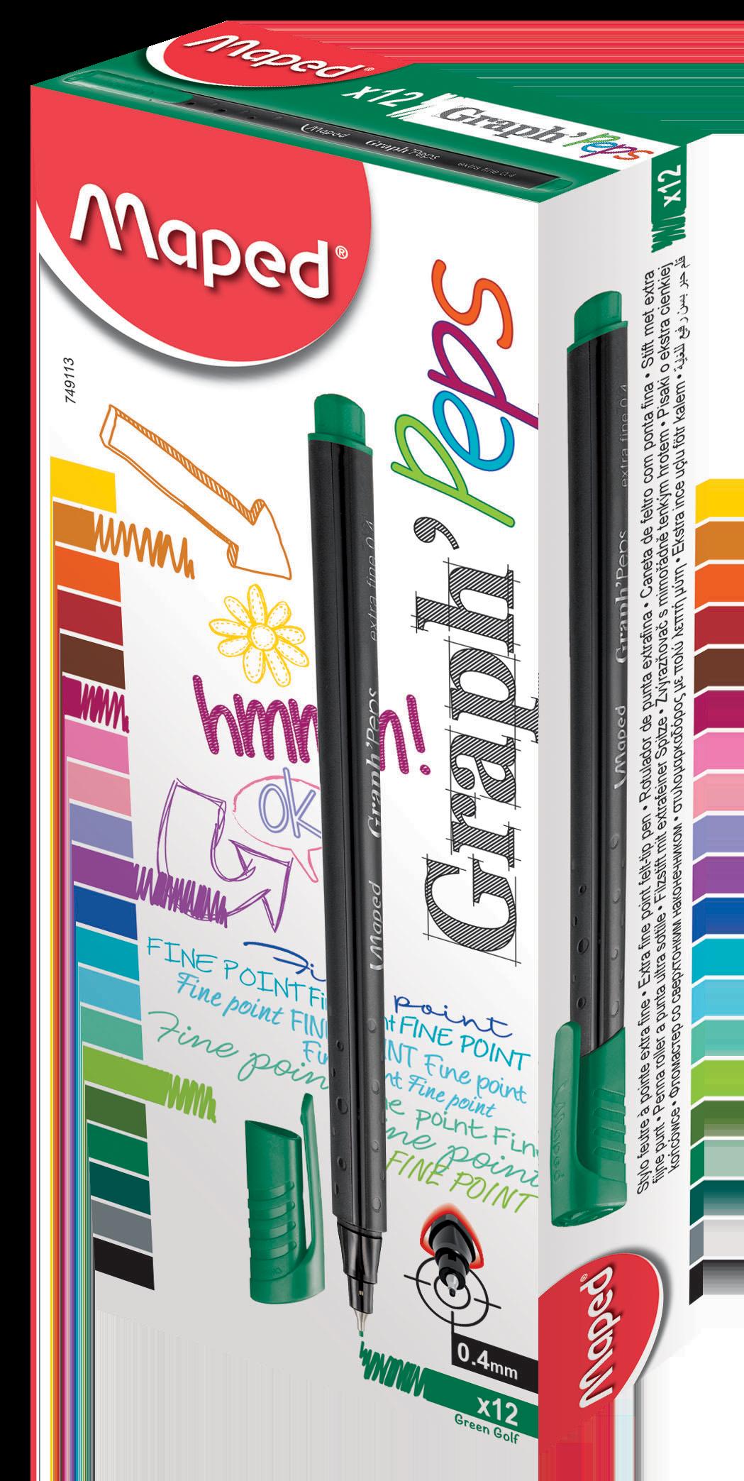 Капиллярные ручкиGraph'Peps, зеленые