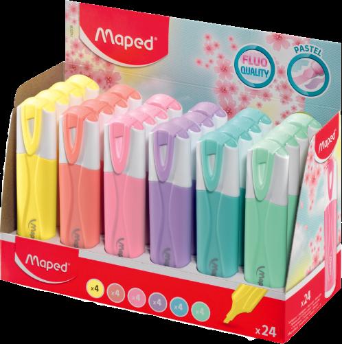 Текстовыделитель FluoPeps Classic Pastel, 24 шт.