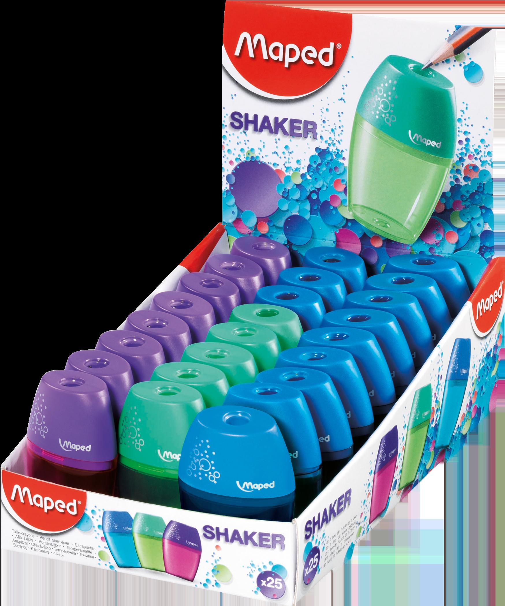 Точилка для карандашей Shaker – 1 отверстие, 25 шт