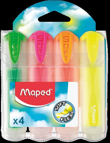 Текстовыделитель FluoPeps UltraSoft Translucent, 4 шт.