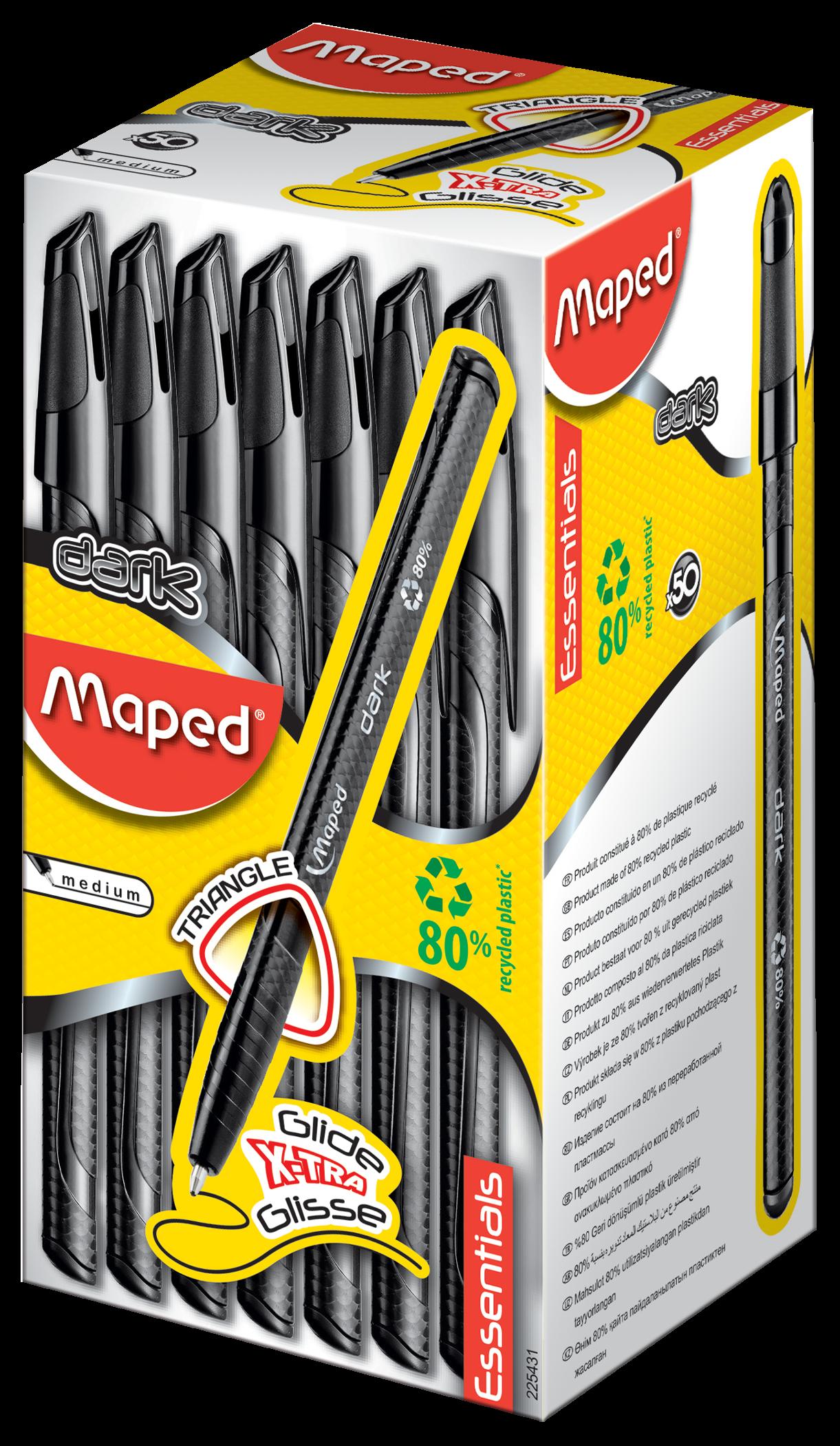 Ручки Dark черные, 50 шт