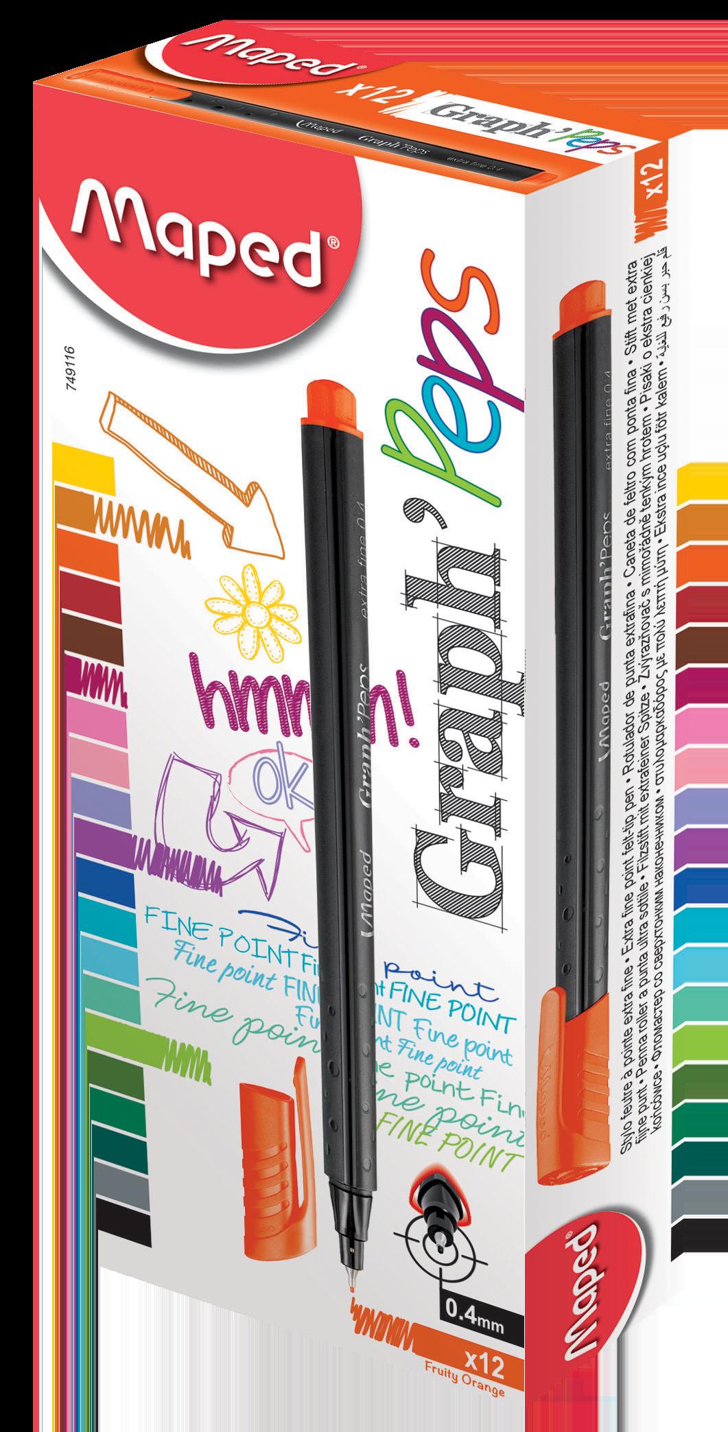 Капиллярные ручкиGraph'Peps, оранжевые