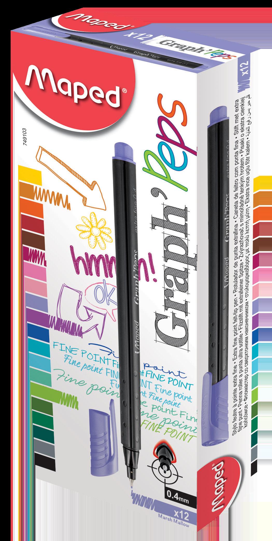 Капиллярные ручкиGraph'Peps, сиреневые