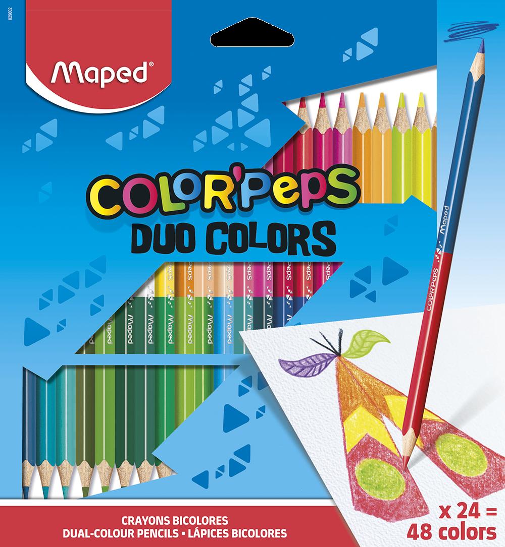 Двусторонние цветные карандаши ColorPeps Duo, 24 цв./48 цв.