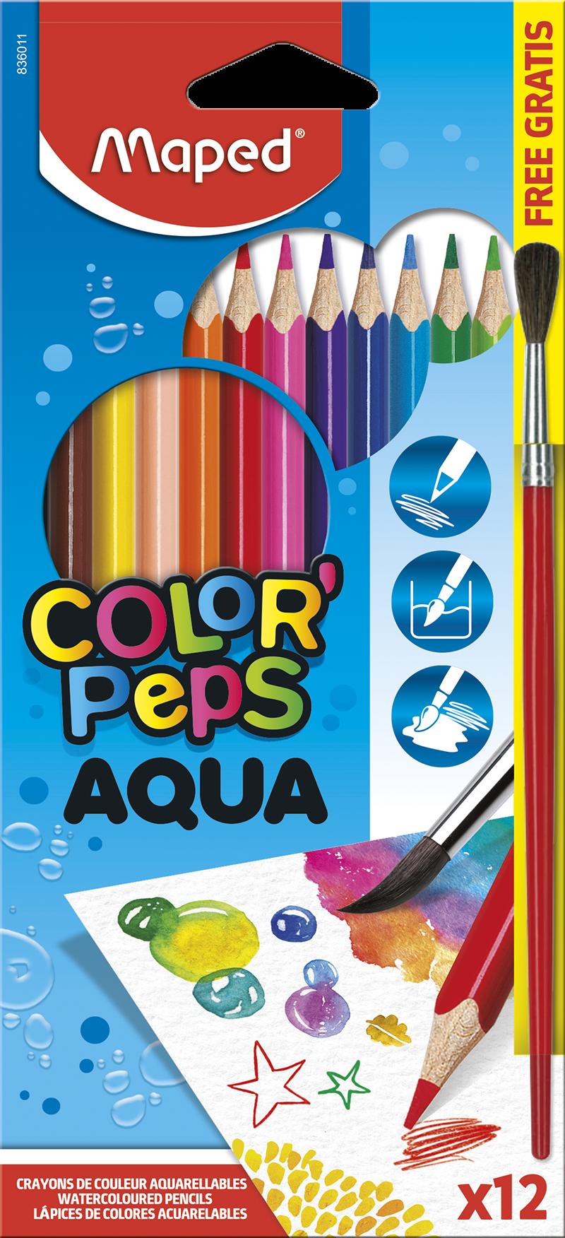 Акварельные карандаши ColorPeps Aqua, 12 шт.