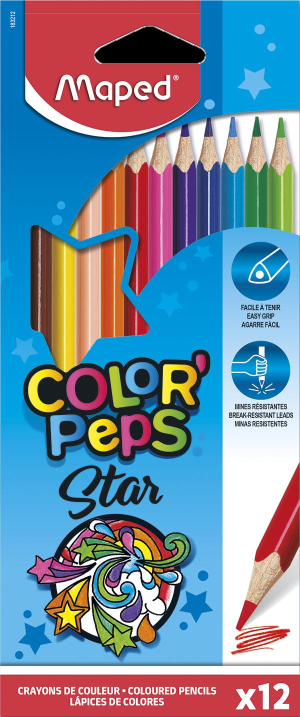 Цветные карандаши ColorPeps Star, 12 цв.